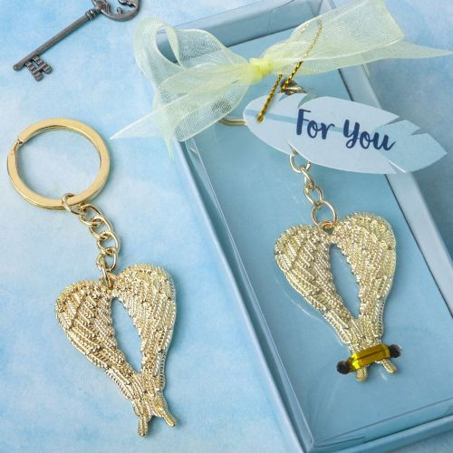 Angel Wings Keyring Favour Gift For Wedding Guests Dinner Party and Events